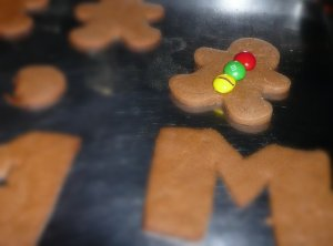 Gingerbread man hunt for after baking cookies.. LOVE IT!